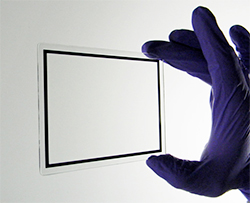 For high-end display programs, CAR-Series™ coatings are index-matched to air and VC1-IM-Series™ coatings are index-matched to lamination to optimize display contrast (e.g., sunlight readability) while providing EMI/RFI shielding and/or transparent heating.